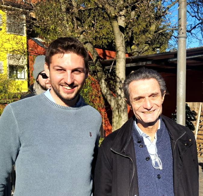 Attilio Fontana con il coordinatore MGP Alessandro Corbetta