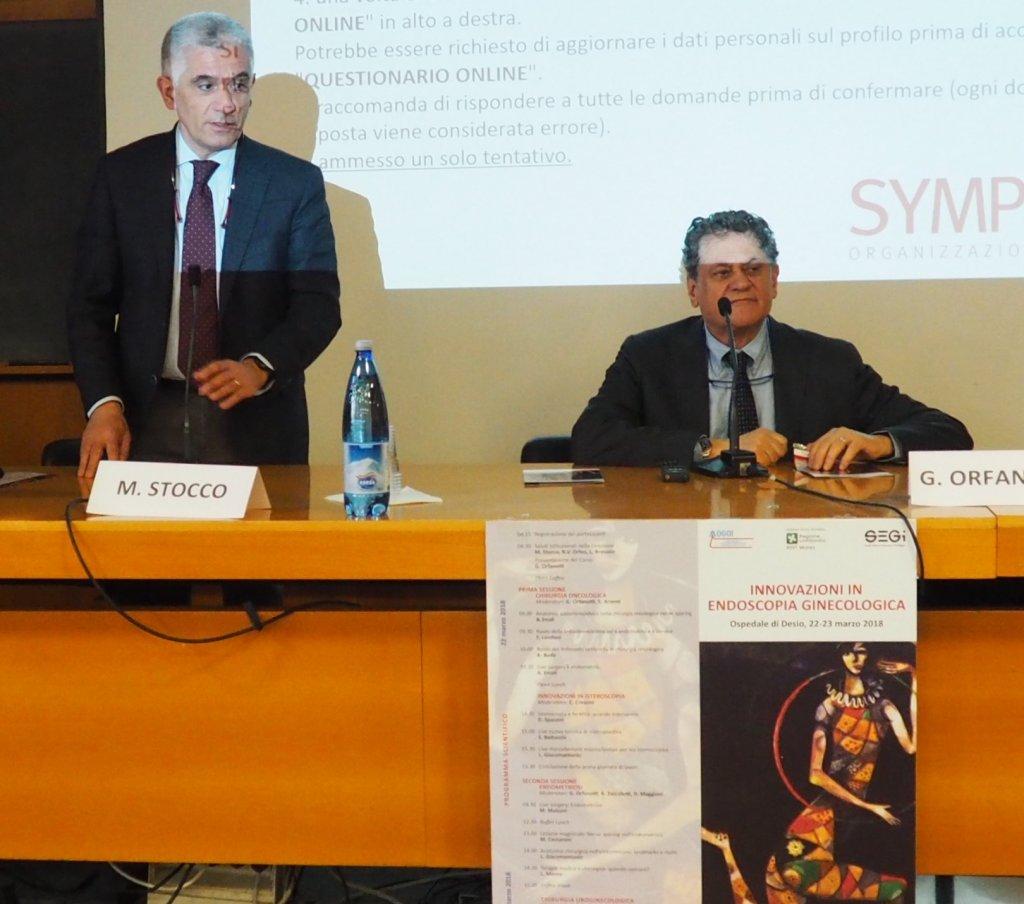 Il DG Matteo Stocco con il primario dott. Guido Orfanotti