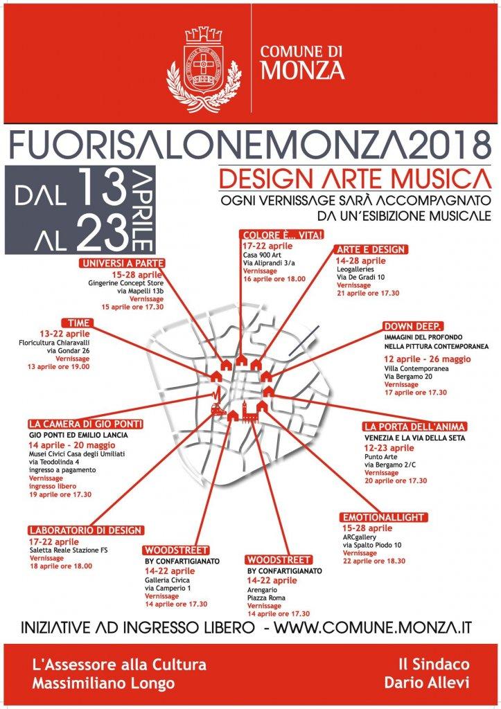 La mappa del Fuorisalone Monza 2018