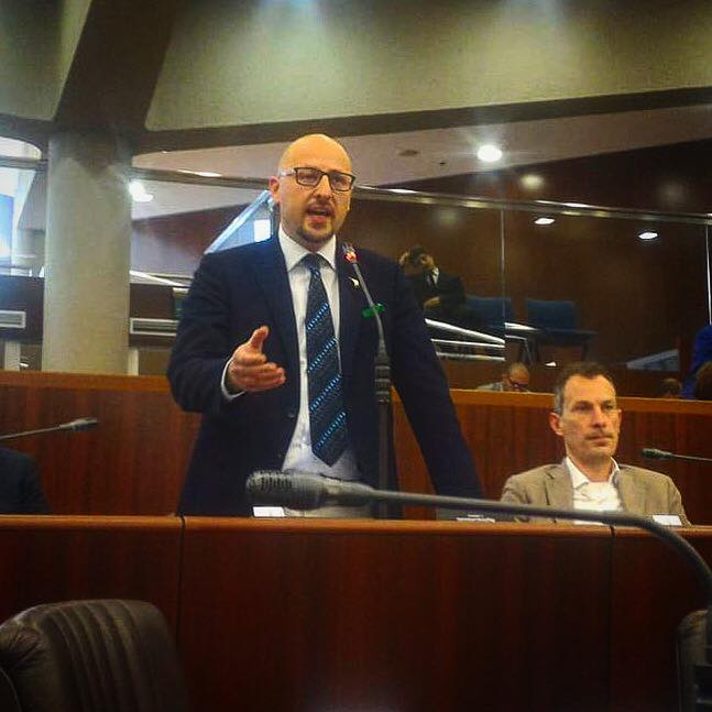 il consigliere regionale Andrea Monti