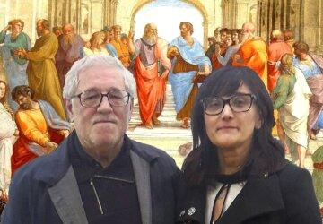 Il-prof.-Silvano-Valentini-e-lassessore-Monica-Conti-davanti-alla-Scuola-di-Atene-di-Raffaello-360x250.jpg